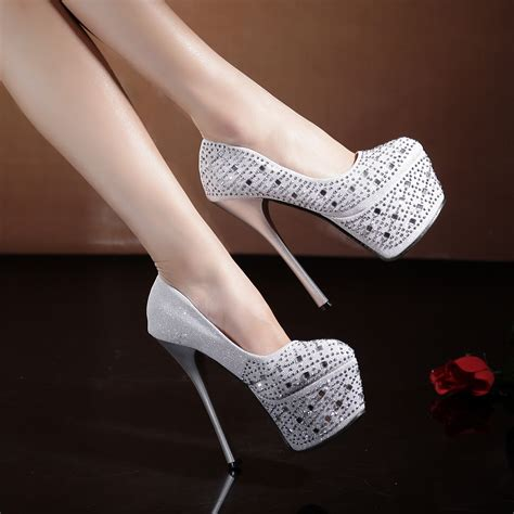 fashion shoes wedding shoes silver bridal
