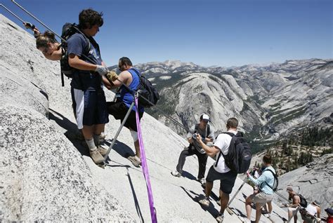 squeak goes climbing in yosemite national park books yosemite half dome cables going up early here s how to