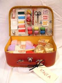 super special diy sewing kit from a suitcase apartment therapy