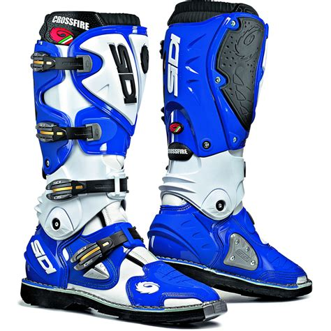blue motocross boots sidi crossfire mx enduro road steel toe motocross dirt