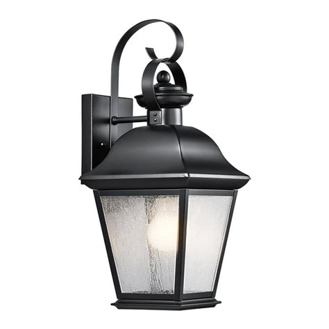 Black Outdoor Lights Shop Kichler Lighting Mount Vernon 16 75 In H Black Outdoor Wall Light At Lowes