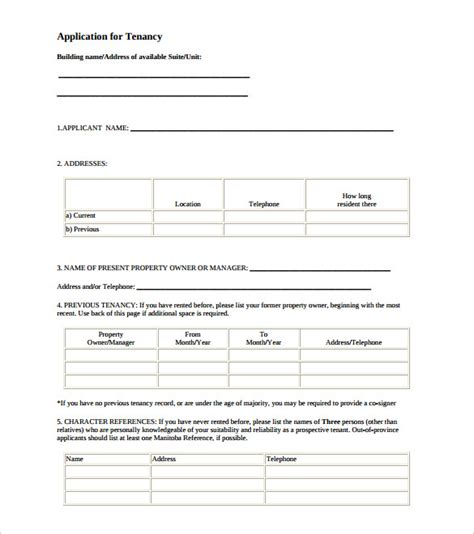 printable house rental application house rental application form free download