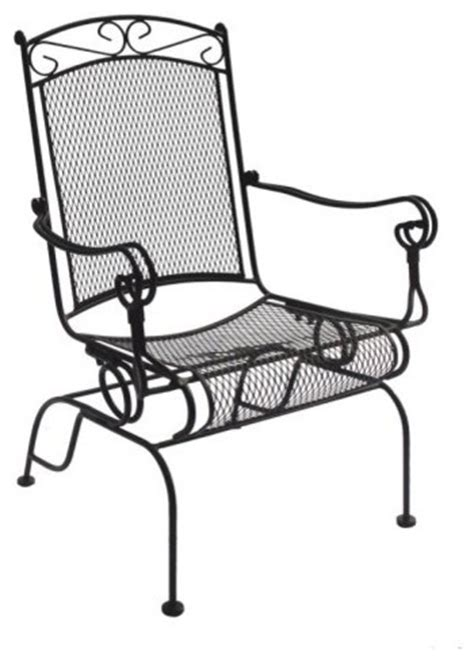 Wrought Iron Rocking Chair by Charleston Wrought Iron High Back Rocker Chair