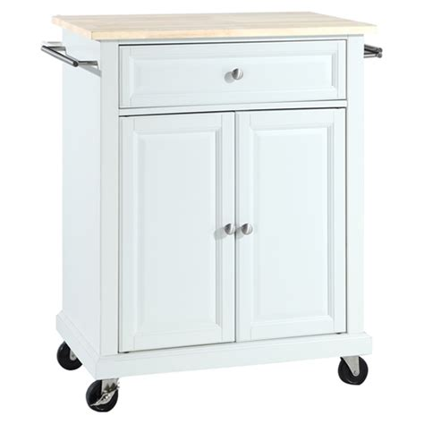 white portable kitchen island wood top portable kitchen cart island white