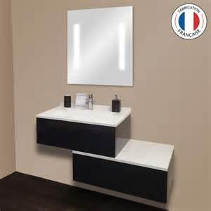 meuble salle bain noir laque