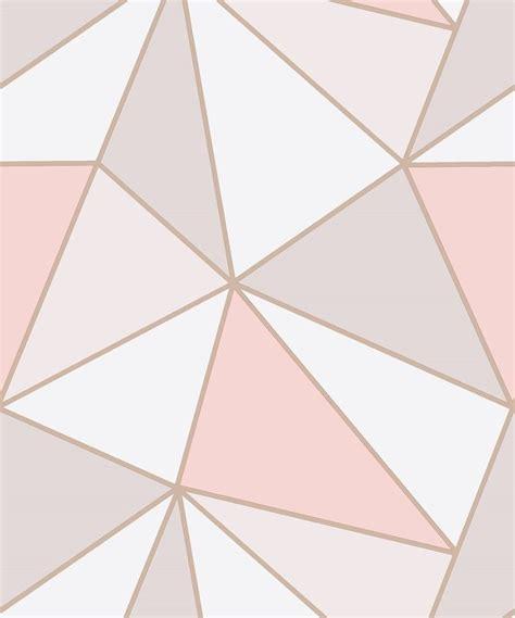 gold wallpaper b and m fine decor apex geometric rose gold wallpaper fd41993
