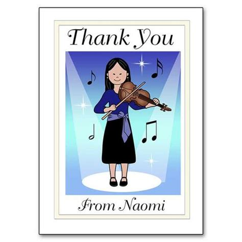 thank you letter to violin violin recital luggage tag for bag mandys