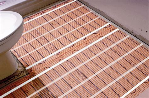 heated tiles in bathroom heated bathroom floor kit wood floors