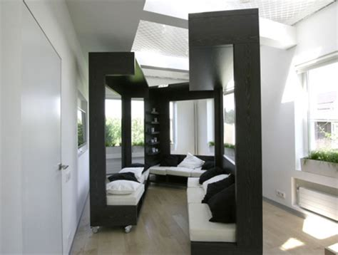 interior space rolling modular room design transforms interior spaces