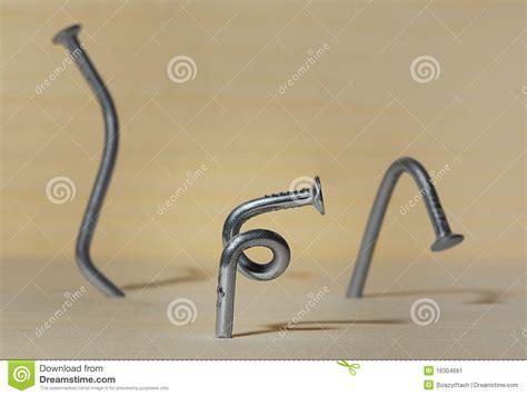 bent nails stock image image 16304661