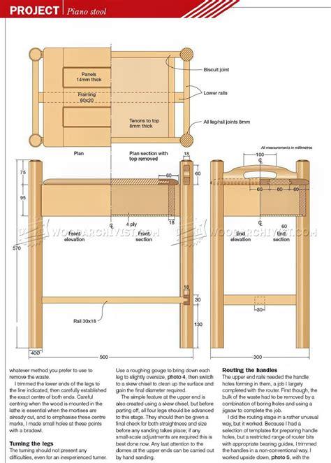 Piano Stool Plans ? WoodArchivist