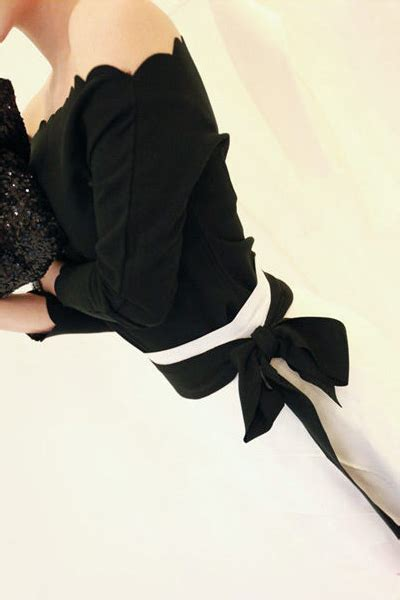 Blouse Sweet Spandek sweet boat neck three quarter black spandex shirt