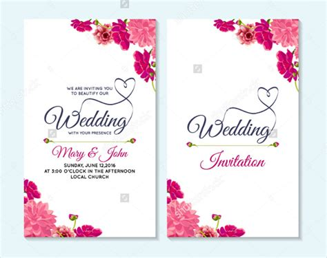 58 wedding card templates free printable sle