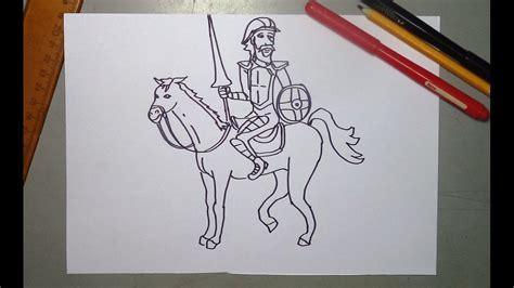 imagenes de don quijote a lapiz aprende a dibujar a don quijote de la mancha paso a paso