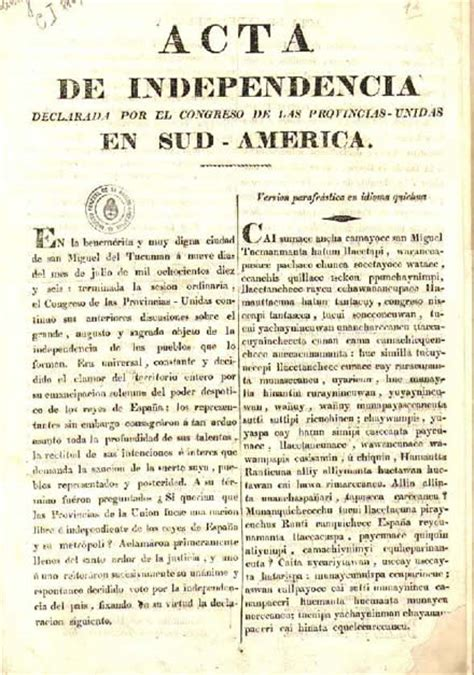 llengua abolida poesia completa 8499308988 declaraci 243 n de independencia de la argentina wikipedia la enciclopedia libre
