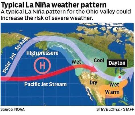 weather pattern video la nina weather pattern developing www daytondailynews com