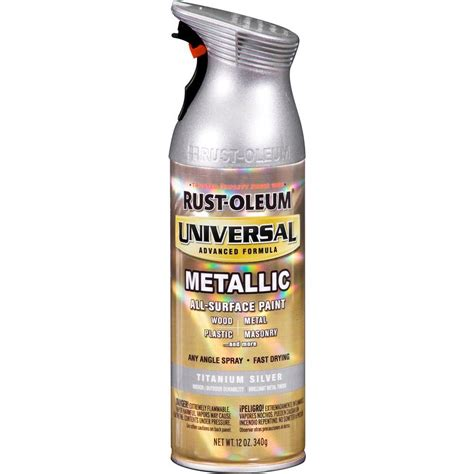 rust oleum universal 12 oz all surface titanium silver hammered spray paint and primer in one