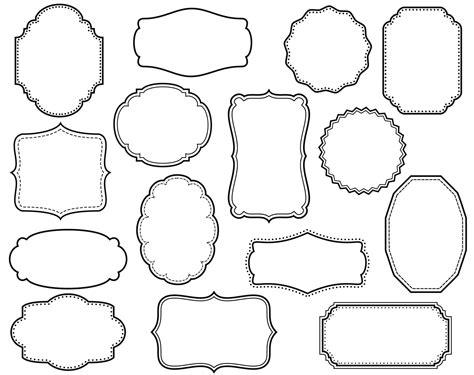 frame outline template clip 15 digital scrapbook frames clipart decorative