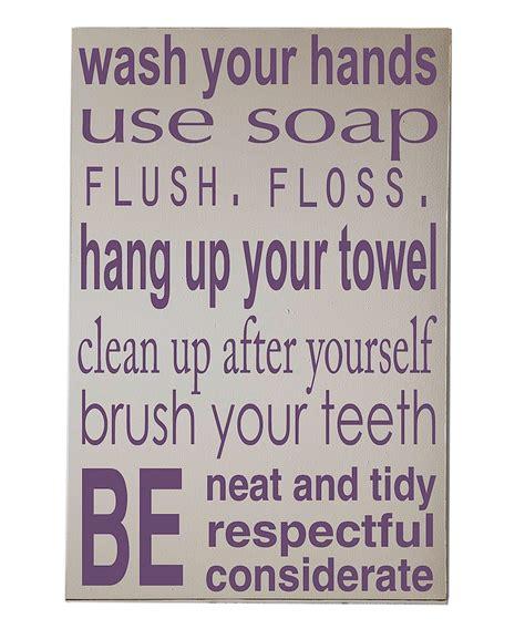 purple and cream bathroom vinyl crafts cream purple bathroom rules wall art