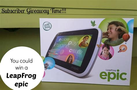 Epic Giveaway - leapfrog epic giveaway