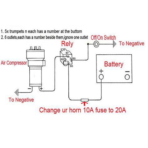 dixie air horn wiring diagram wiring diagram with