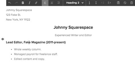 Displaying Your Resume On Your Site Squarespace Help Squarespace Resume Template