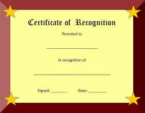 Certificate Of Recognition Template Free by Certificate Of Recognition Template Certificate Templates