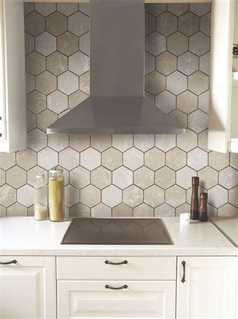Hexagon Tile Kitchen Backsplash Backsplash Inside Effects Pinteres