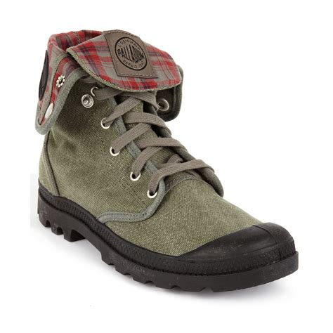 palladium shoes palladium baggy boots in green for black black canvas