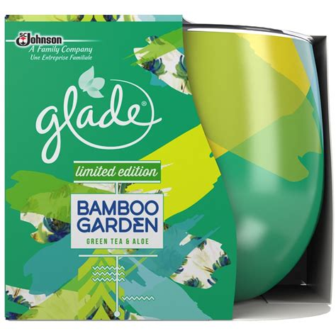 candele glade glade candle bamboo garden candles b m