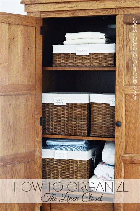 organizing your linen closet home organizing challenge week 10 linen closet a bowl