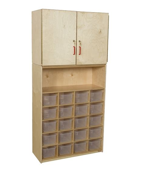 Vertical Storage Cabinet Wood Designs Wd56201 20 Tray Vertical Storage Cabinet