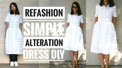Wardrobe Refashion Wants You To Stop Buying Clothes simple dress alteration refashion diy how to alter your