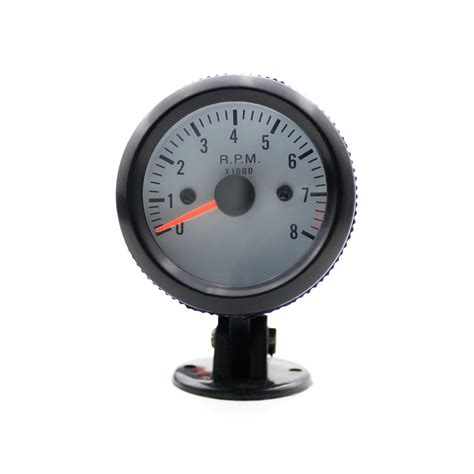 Led Speedometer Motor oto r 52mm black auto ᗑ 0 8000 tachometer rpm meter speedometer ヾ ノ gauges