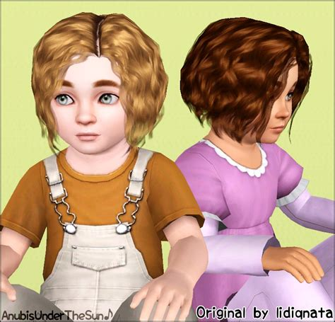 sims 3 baby hair sims3pack curly hair mod the sims lidiqnata s short curly hair converted