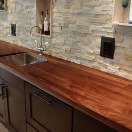 butcher block countertop backsplash stacked backsplash i would this be to clean