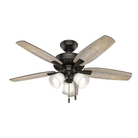 hunter highbury ceiling fan hunter oakfor 48 in led indoor noble bronze ceiling fan