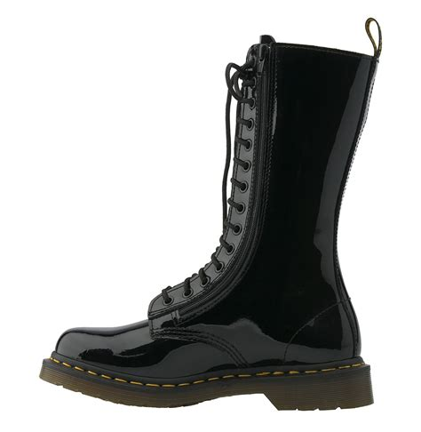 zip boots dr martens 14 eye 2 zip boot in black black