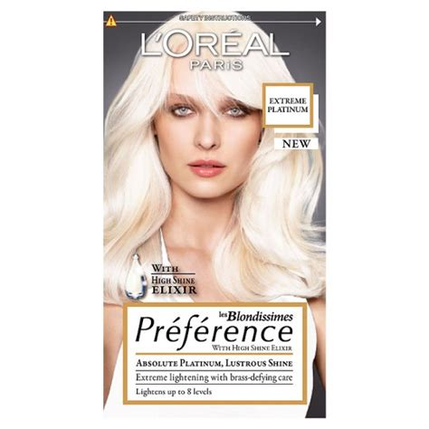 platunum hair dye the counter l oreal paris preference color extreme platinum