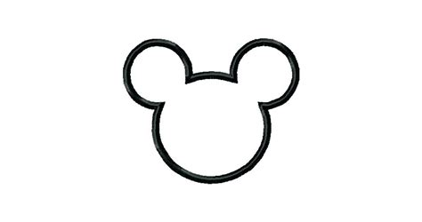 mickey mouse silhouette template beautiful design mickey mouse outline dot to template