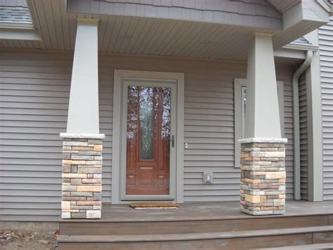 post detail misc house ideas pinterest craftsman style stone columns special details by