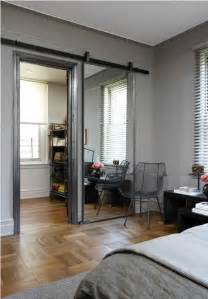 a sliding barn door mirror this and it almost makes