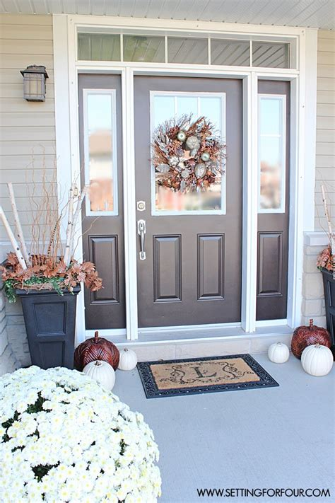 do you paint both sides of a front door the same color fall home tour part one setting for four