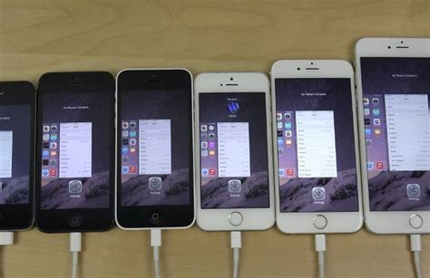 ios 8 1 2 speed tests on iphone 6 plus vs 6 5s 5c 5 and 4s phonesreviews uk mobiles apps