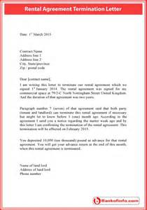Termination Agreement Letter Template Rental Agreement Termination Letter Sample Letter