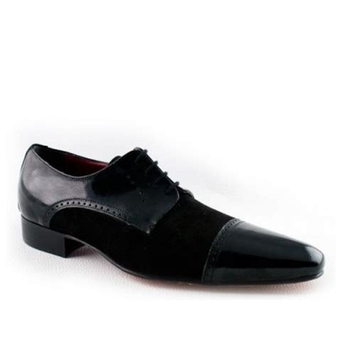 black suede and patent leather derbies black suede leather