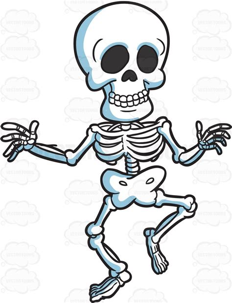 Skeleton Running Clipart   ClipartXtras
