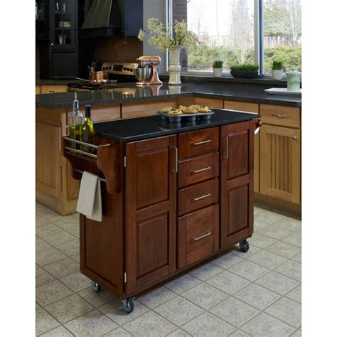 walmart kitchen islands home styles large kitchen cart cottage oak black granite top walmart com