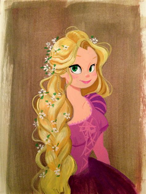 rapunzel painting gouache painting of rapunzel ying s