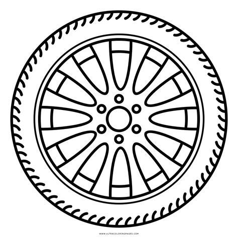 imagenes para colorear rueda dibujo de llanta para colorear ultra coloring pages